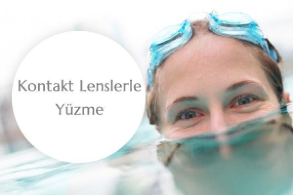 Kontakt lensle yüzebilir misiniz?